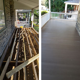 Front Porch Rebuild in Narberth PA